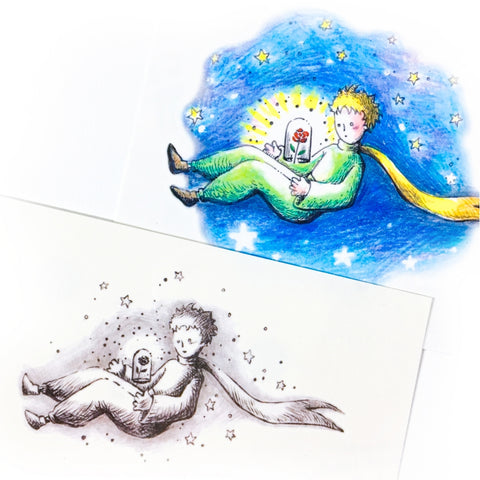 Le Petit Prince Tattoo The Little Prince En Rose Tattoo Watercolor color Art 小王子 Fake Tatts Moon Star Romantic Tattoo Spiritual Tattoo Romantic Bohemian Tattoo Boho Minimal Tattoo LAZY DUO Tattoo Sticker 香港紋身貼紙 刺青圖案 紋身師 印刷訂做客製 Custom Temporary Tattoo artist HK tattoo shop Hong Kong 迷你刺青 韓式刺青紋身 small tattoo design Minimal Tattoo little tattoo idea sketchy tattoo floral tattoo ankle wrist tattoo back tattoo Taiwan