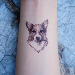 Puppies Love · Golden Retriever, Chow Chow, Corgi Dog Tattoos - LAZY DUO TATTOO