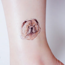 Load image into Gallery viewer, Puppies Love · Golden Retriever, Chow Chow, Corgi Dog Tattoos - LAZY DUO TATTOO