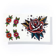 Load image into Gallery viewer, Old School Red Rose Tattoos - LAZY DUO TATTOO