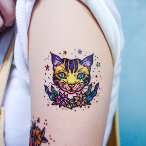 New School Pop Color Cats Tattoos - LAZY DUO TATTOO