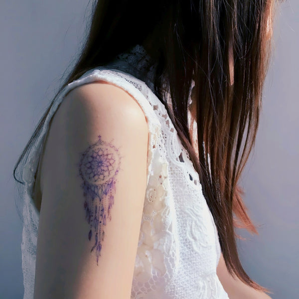 Mini Dreamcatcher Tattoos Cute Minimal Tattoo Delicate Watercolor LAZY DUO Tattoo Sticker 香港紋身貼紙 刺青圖案 紋身師 印刷訂做客製 Custom Temporary Tattoo artist HK tattoo shop Hong Kong 迷你刺青 韓式刺青紋身 small tattoo design Minimal Tattoo little tattoo idea sketchy tattoo floral tattoo ankle wrist tattoo back tattoo Taiwan