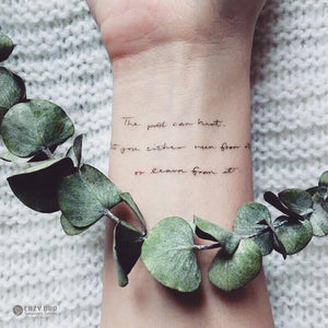 Encourage Quote・Learner Tattoo - LAZY DUO TATTOO