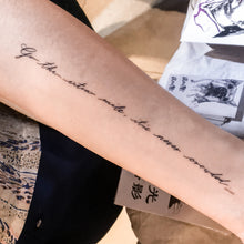 Load image into Gallery viewer, Motivational Quote Tattoo.Strength Tattoo - LAZY DUO TATTOO