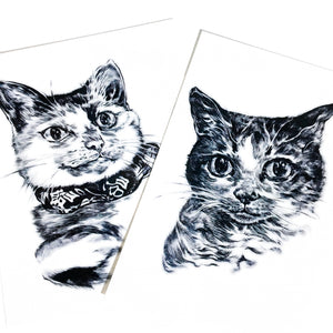 Little Bean Ding Cat Rescue Mascots・Kit & Monroe - LAZY DUO TATTOO