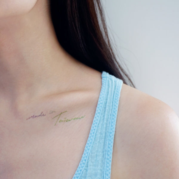 Lettering Tattoo Words Tattoo Quote Tattoo Nationality Tattoo Watercolor LAZY DUO Tattoo Sticker 香港紋身貼紙 刺青圖案 紋身師 印刷訂做客製 Custom Temporary Tattoo artist HK tattoo shop Hong Kong 迷你刺青 韓式刺青紋身 small tattoo design Minimal Tattoo little tattoo idea sketchy tattoo floral tattoo ankle wrist tattoo back tattoo Taiwan