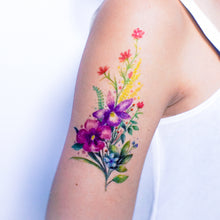 Load image into Gallery viewer, Watercolor Bouquet of Flower Tattoos - LAZY DUO TATTOO