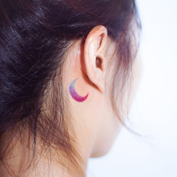 Moon Color Tattoo Gradient color tattoo Rain Tattoo Water Droplet Tattoo Minimal Tattoo Heart Tattoo Watercolor Tattoo Rainbow TATTOO LAZY DUO Temporary Tattoo HK Hong Kong Tattoo Shop Little Tattoo Small Tattoo Fake Tattoo
