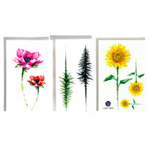 Load image into Gallery viewer, Watercolor Flower & Tree Tattoos - LAZY DUO TATTOO