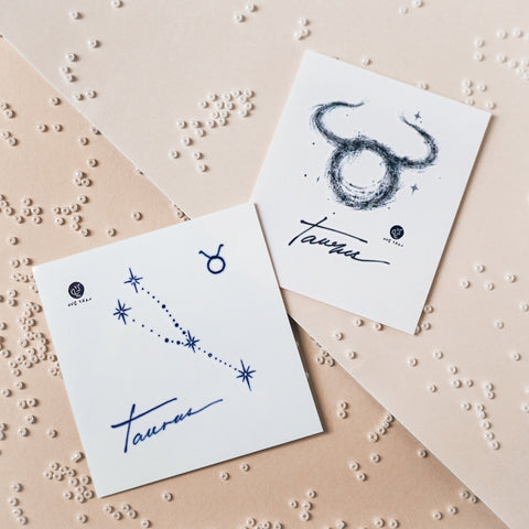 TAURUS Tattoo Minimal Zodiac Sign Tattoos Reliable Stable Determined Silver Metallic Tattoos UV Tattoo Sticker Zodiac Symbol Tattoos Minimal Tattoos LAZY DUO Realistic Temporary Tattoo HK Hong Kong 金牛座紋身星座刺青香港紋身店 Mane Ink Manyeee Tattoo