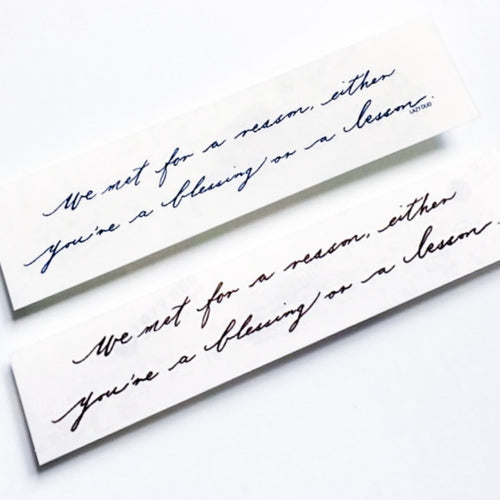 Encourage Quote・Life Lesson Tattoo - LAZY DUO TATTOO