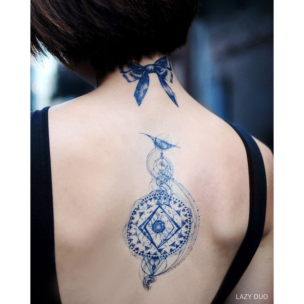 galexy tattoo tarot tattoo spiritual Tattoo Mandala LAZY DUO Tattoo Sticker 香港紋身貼紙 刺青圖案 紋身師 印刷訂做客製 Custom Temporary Tattoo artist HK tattoo shop Hong Kong 迷你刺青 韓式刺青紋身 small tattoo design Minimal Tattoo little tattoo idea sketchy tattoo floral tattoo ankle wrist tattoo back tattoo Taiwan
