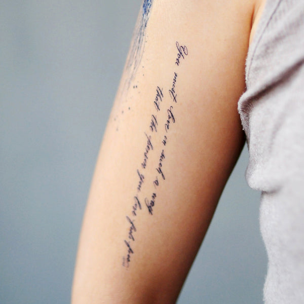 Tattoo Quotes About Yourself: Love LAZY DUO Calligraphy Lettering Temporary Tattoo HK