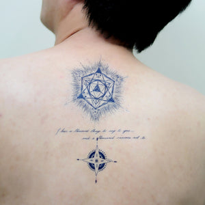 Blue Tattoo Set L - LAZY DUO TATTOO