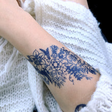 Load image into Gallery viewer, Boho & Spirital Floral Stripe Tattoo - LAZY DUO TATTOO