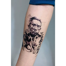 Load image into Gallery viewer, Yukio Mishima Ink wash Portrait Tattoo - LAZY DUO TATTOO