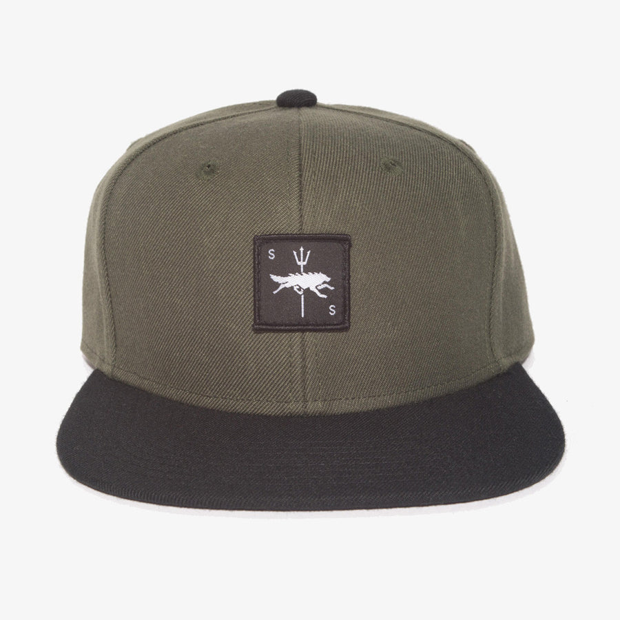Shady Snapbacks-hats / caps-Seawolf Supply-Forest Green / Black-Seawolf Supply