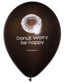 Donut Worry Be Happy|Balloons|Black|WinkBalloons|Sydney|Deliver|Online