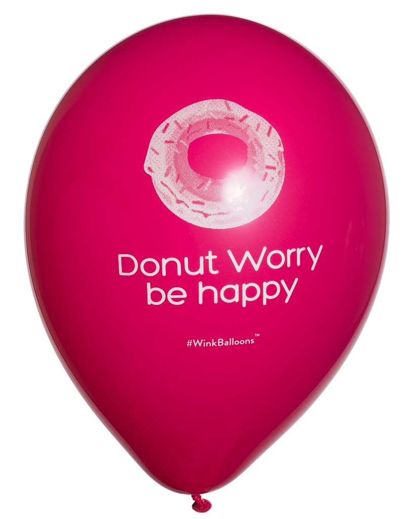 Donut Worry Be Happy|Blue Balloons|WinkBalloons|Sydney|Delivery|Online