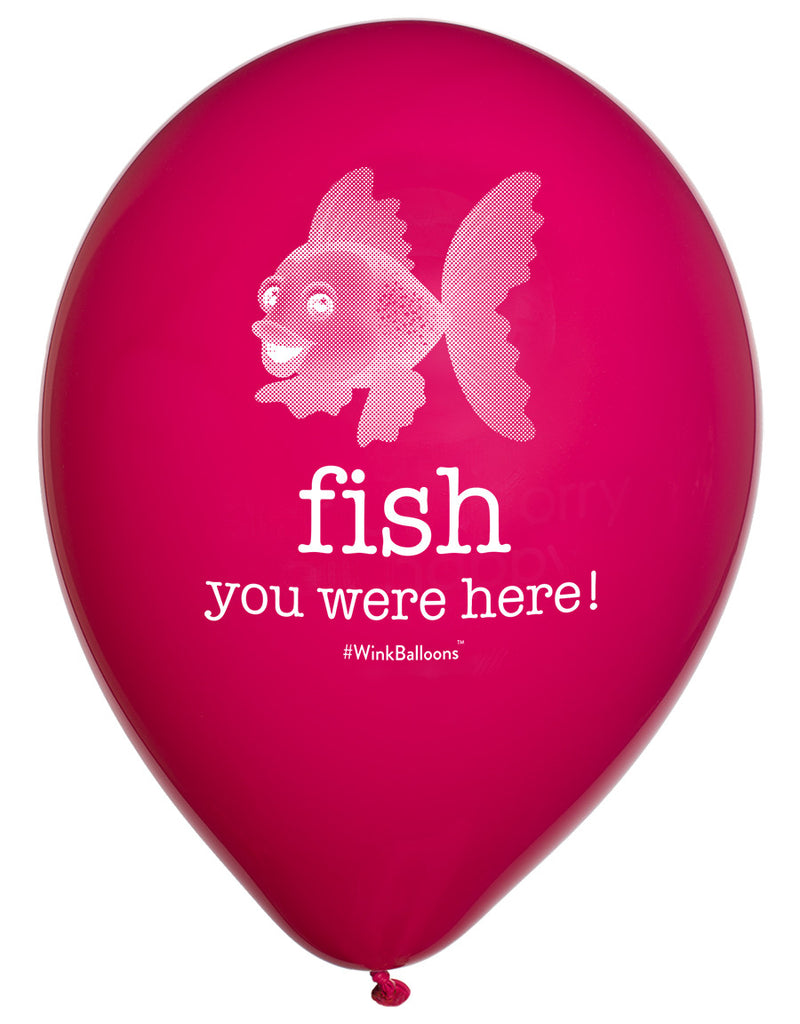 Fish You Were Here|Balloons|Blue|WinkBalloons|Sydney|Delivery|Helium|Bouquet