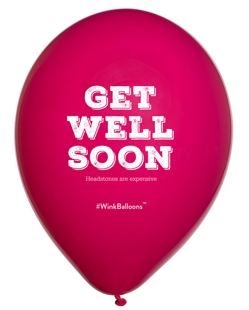 Get Well Soon Headstones Are Expensive|Abusive Balloons|Black|WinkBalloons|Sydney|Delivery|Helium|Bouquet|Funny|Rude Balloons
