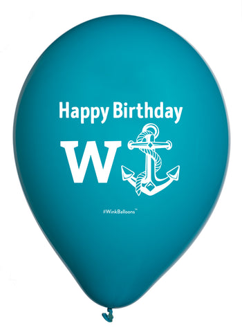 Happy Birthday W(Anchor) - Balloon Bouquet - Delivered*