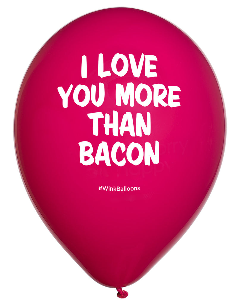 I Love You More Than Bacon|I Love You|WinkBalloons|Sydney|Delivery|Bouquet|Online|Helium|Funny Balloons|Yellow