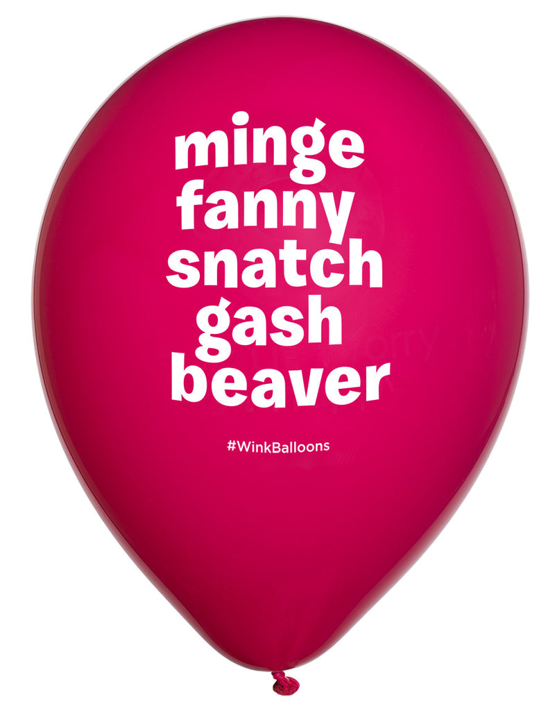 Minge Fanny Snatch Gash Beaver|Abusive Balloons Australia|WinkBalloons|Sydney|Delivery|Online|Helium|Funny Balloons|Yellow|Rude Balloons