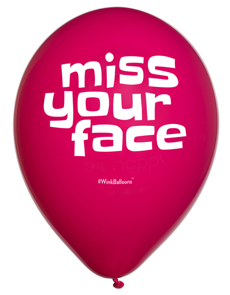 Miss Your Face|I Love You|WinkBalloons|Sydney|Delivery|Online|Helium|Funny Balloons|Blue|Rude Balloons|Bouquet
