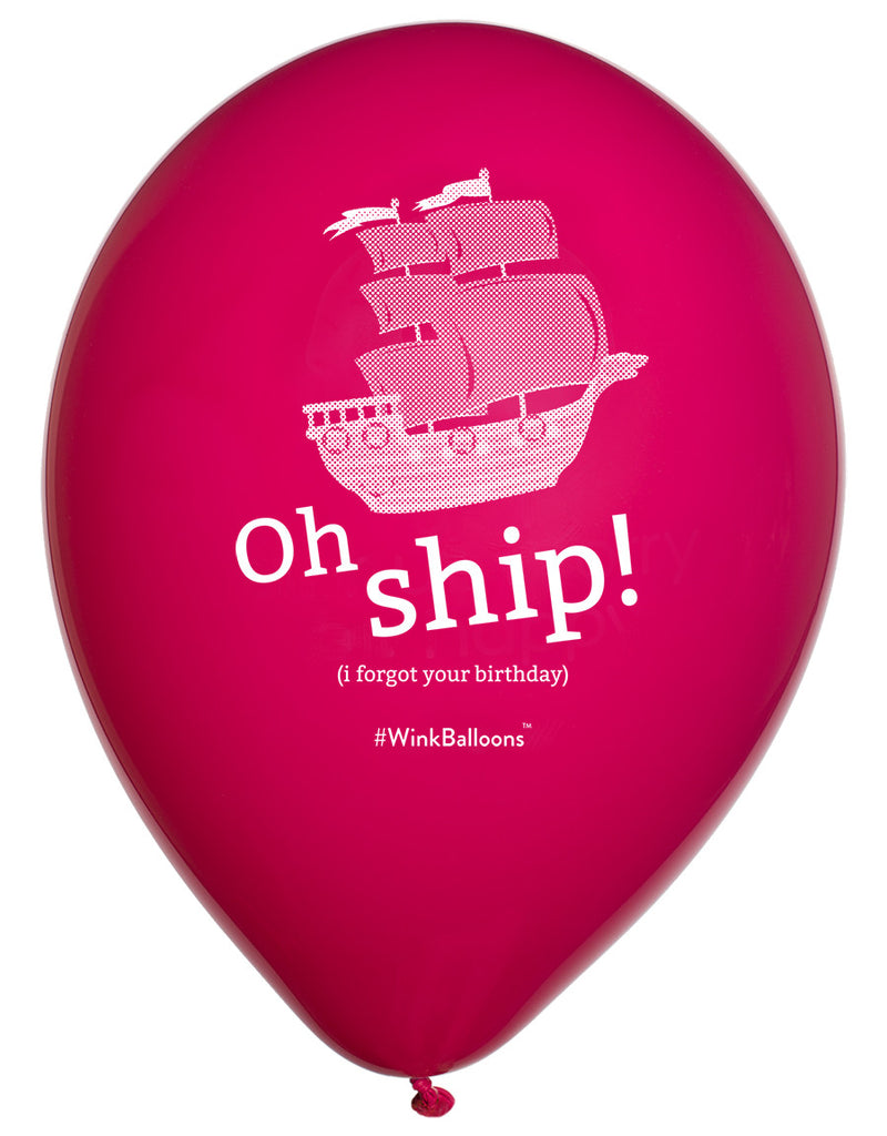 Oh Ship I Forgot Your Birthday|Birthday Balloons|WinkBalloons|Sydney|Delivery|Online|Helium|Funny Balloons|Pink|Rude Balloons|Bouquet