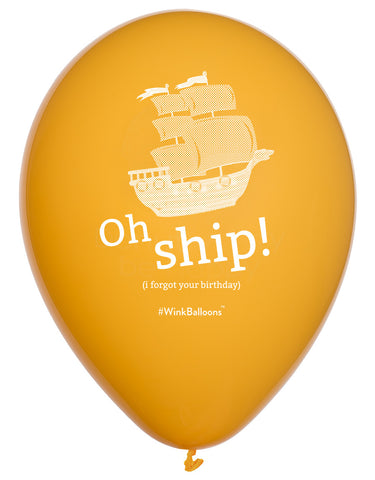 Oh Ship! I Forgot Your Birthday - Balloon Bouquet - Delivered*