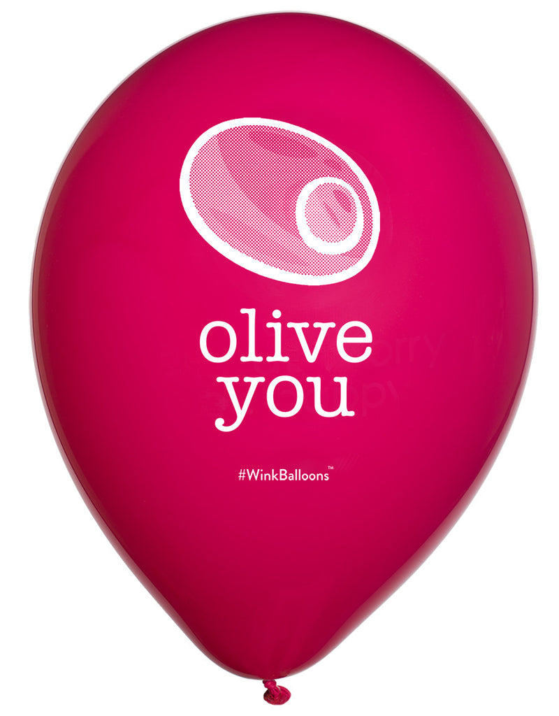 Olive You|I Love You|WinkBalloons|Sydney|Delivery|Online|Helium|Funny Balloons|Black|Cute Balloons|Bouquet