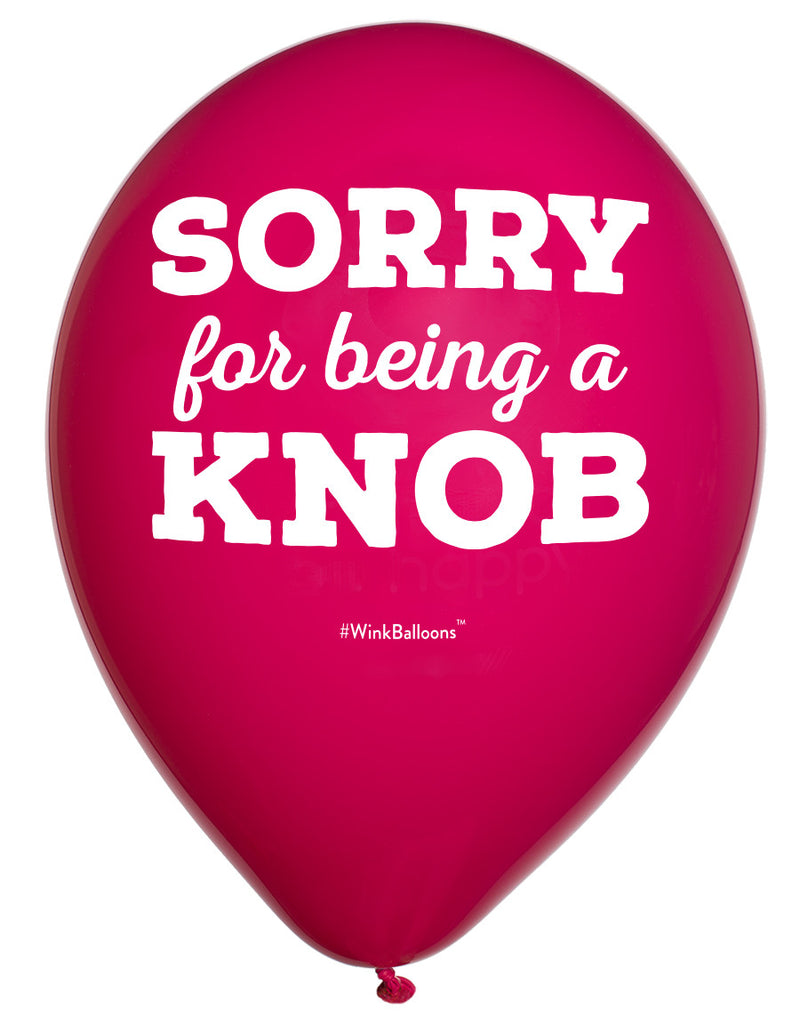 Sorry For Being A Knob|I Love You|WinkBalloons|Sydney|Delivery|Online|Helium|Funny Balloons|Yellow|Cute Balloons|Bouquet