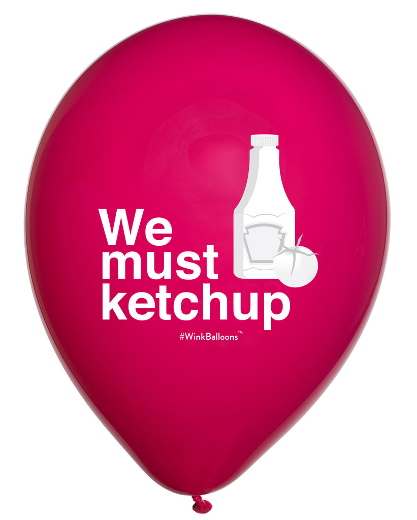 We Must Ketchup|I Love You|WinkBalloons|Sydney|Delivery|Online|Helium|Funny Balloons|Yellow|Cute Balloons