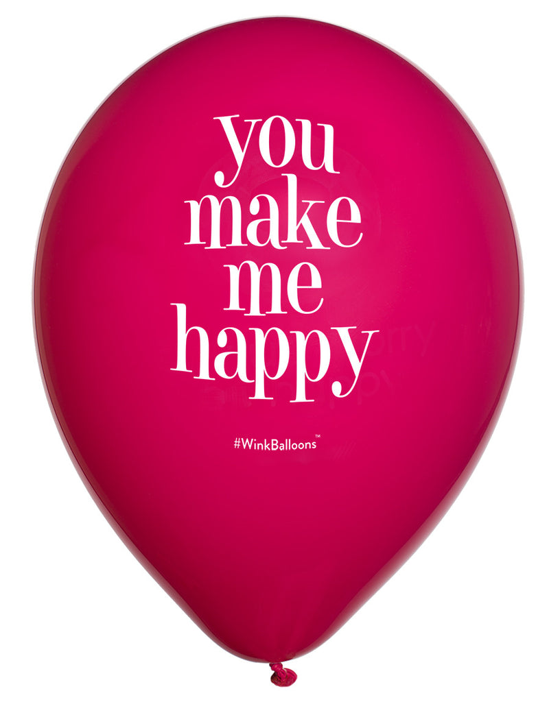 You Make Me Happy|I Love You|WinkBalloons|Sydney|Delivery|Online|Helium|Funny Balloons|Yellow|Cute Balloons|Bouquet