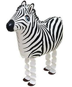 Zebra Walking Pet Balloon - Delivered*