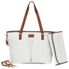 Messenger Diaper Bag - Gray/White