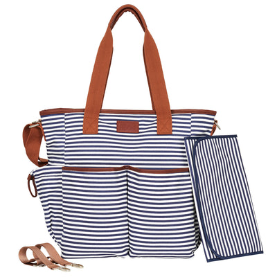 Weekender Tote Diaper Bag - Navy/White