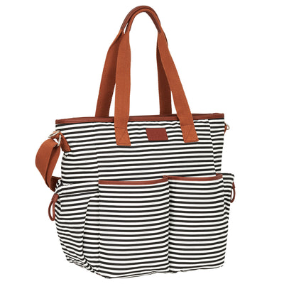 Weekender Tote Diaper Bag - Black/White