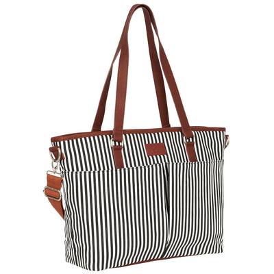 Messenger Diaper Bag - Black/White