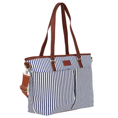 Messenger Diaper Bag - Navy/White
