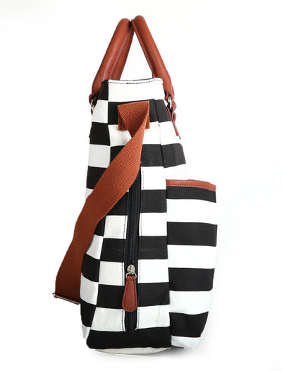 Original Tote Medium Diaper Bag - Black/White