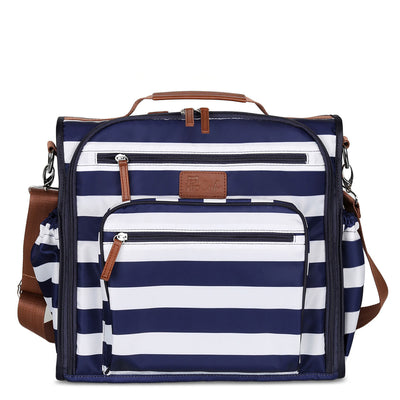68c6acc87ecd4 Convertible Backpack Diaper Bag - Navy/White - Hip Cub