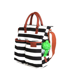 Hip Cub Medium Tote with sippy cup in side pocket