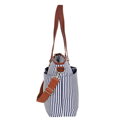 Hip Cub Messenger Diaper Bag navy & white - side view