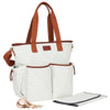 Hip Cub Tote Diaper Bag gray & white - stylish matching set