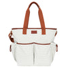 Hip Cub Tote Diaper Bag gray & white - front view