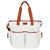 Weekender Tote Diaper Bag - Gray/White