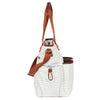 Hip Cub Tote Diaper Bag gray & white - side view