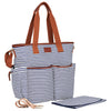Hip Cub Tote Diaper Bag navy & white - stylish matching set